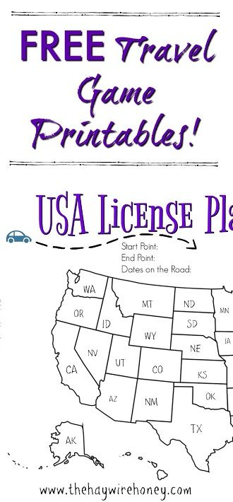 Free travel games. Printable road trip and vacation games.