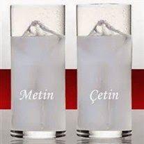 isim yazılı rakı bardağı seti