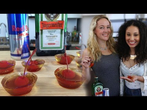 ▶ Jager Bomb Jello Shots - Tipsy Bartender - YouTube. All their videos are great.
