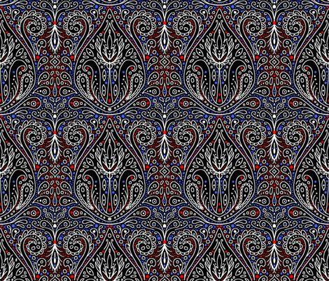 exotic paisley damask fabric by beesocks on Spoonflower - custom fabric