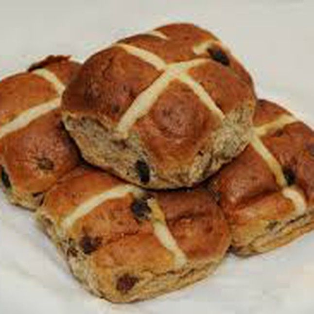 Hot Cross Buns are synonymous with Good Friday There are loads of stories and legends associated with them dating back to Ireland and England from ...'Hot Cross Buns baked on Good Friday would never go bad throughout the following year.....' Some of us bakers believe that keeping one Hot Cross Bun and hanging it in the kitchen means that anything with yeast in it for the next year will rise successfully. Sailors took Hot Cross Buns on their voyages to ensure their ships wouldn't come to some…