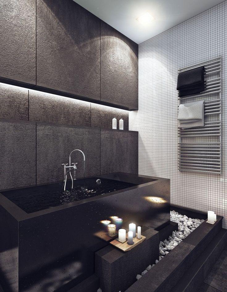 Black Luxury Modern Bathroom 41 best masculine bathrooms images on pinterest | bathroom ideas