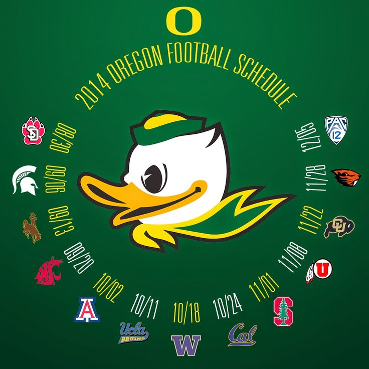 Had to make a customized 2014 Oregon Ducks Football Schedule... on www.WildKingdumb.com
