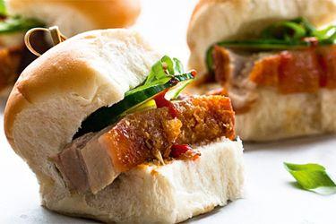 Roast pork-belly sliders