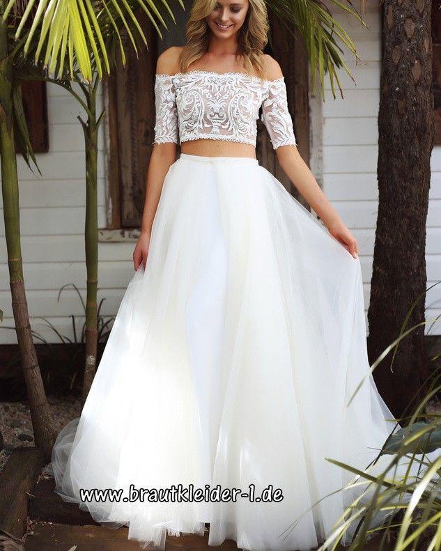 Zweiteiliges Brautkleid 2019 Zweiteiliges Brautkleid 2019 Mode Braut Brautmode Kleider Hochzeit Fur Die Braut Sta Braut Brautkleid Neue Brautkleider