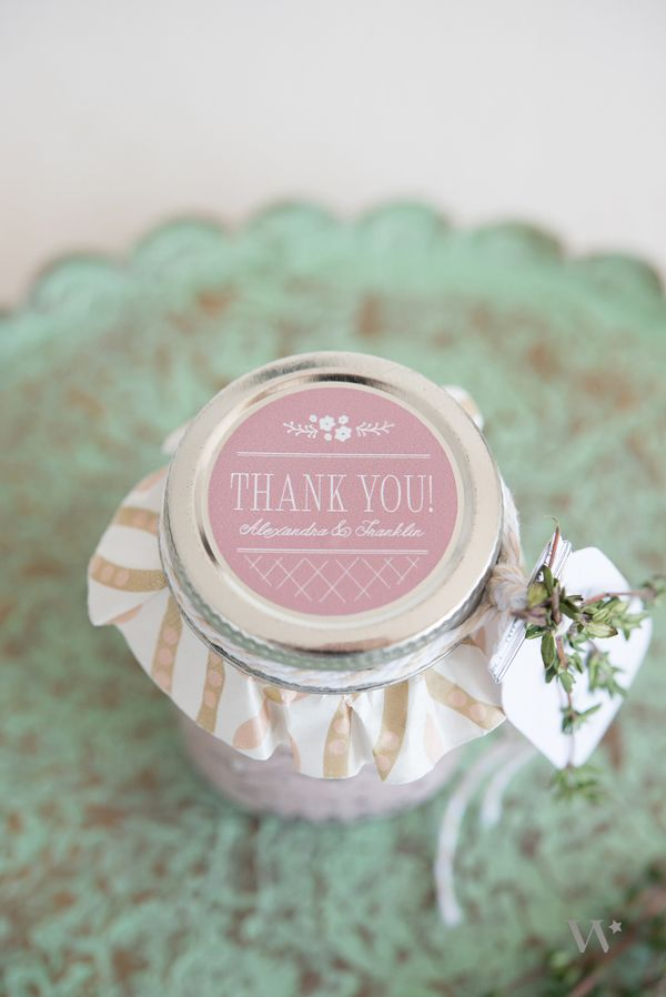 Fill your mini mason jars with anything you desire. Salad dressing, bath salts or jam!