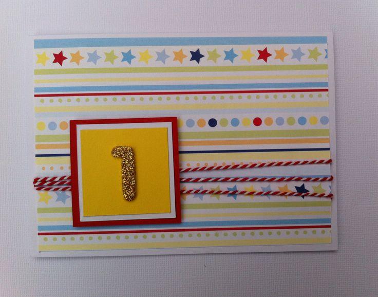 Handmade Birthday Card - 1st Birthday - Handmade by HandmadeByLana on Etsy