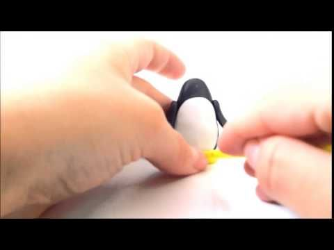 Jak ulepić pingwina z modeliny ?  How to do with modeling clay penguin