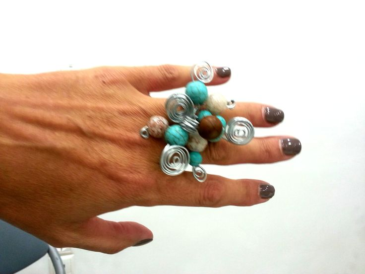 Rings from wire and beads