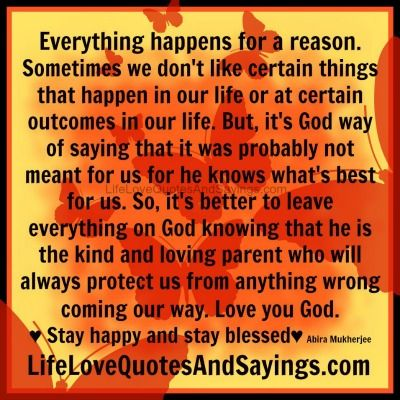 Breakup quotes everything happens for a reason