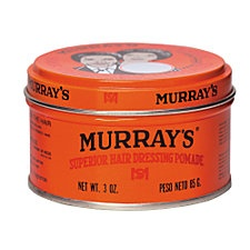 POMADE! And don't you forget it! Murray's Superior Hair Dressing Pomade is a great, inexpensive (under $2) brand, but most pomades will do the trick; whichever brand is your fancy. This will smooth every strand into that perfect victory roll, no sweat!