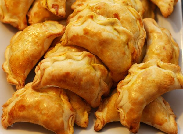 Chinese Curry Pockets with ground beef, potato, onion, curry powder ...