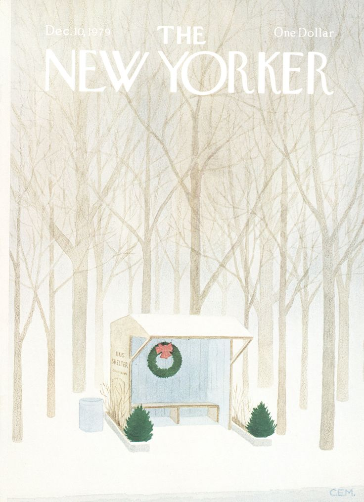 The New Yorker - Monday, December 10, 1979 - Issue # 2860 - Vol. 55 - N° 43 - Cover by : Charles E. Martin