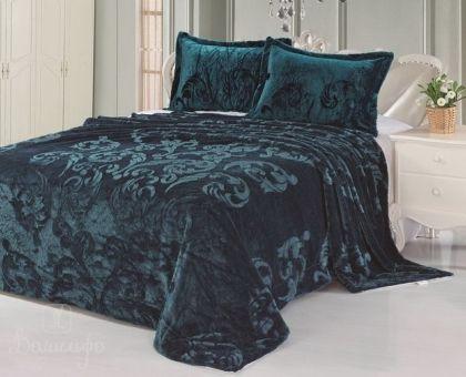 Купить покрывало из искусственного меха VERMONT бирюзово-синее 160х220Н от производителя Tango (Китай)