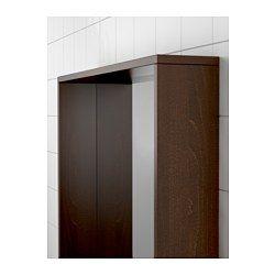 IKEA - MOLGER, Miroir, brun foncé, , Peut être utilisé à l'horizontale ou à la verticale.Le rebord profond peut servir de tablette pour accueillir un porte-savon, un verre pour brosse à dents, etc.Miroir doublé d'une pellicule de protection antiéclats au dos, ce qui réduit les risques de blessure si le miroir est cassé.