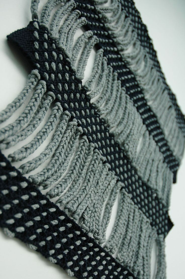 Fabric manipulation and textile design - Contrasting traditional techniques such as macrame and knot-making with unconventional materials, this project explores architectural forms and optical illusions.