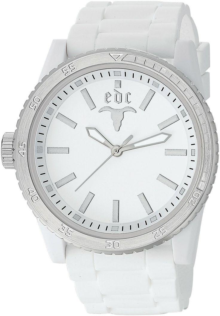 EDC Rubber Star Pure White Silver - Gratis Verzending!