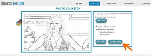 Convertir fotos en dibujos facil gratis y on-line