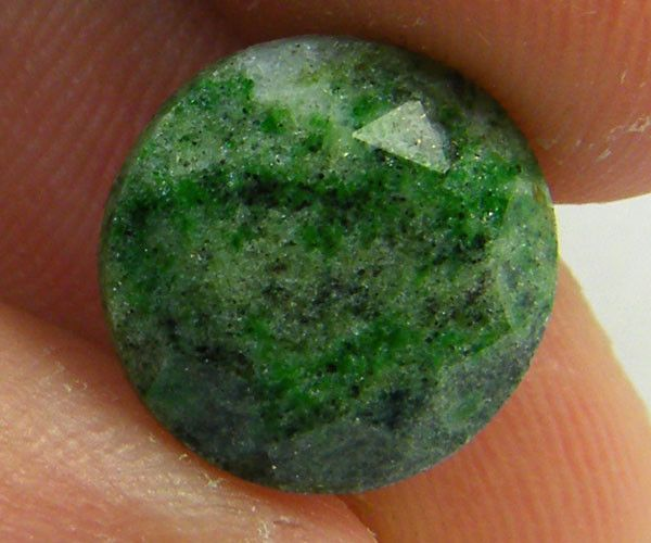 UNUSUAL FACETED ZOISITE. THIS IS THE ACTUAL GEM YOU WILL RECEIVE.  ZOISITE GEMSTONE FROM GEMROCKAUCTIONS.COM