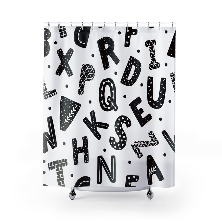 Just in time for Christmas: Nordic Alphabet S.... Santa shops here: http://rileyroux.com/products/nordic-alphabet-shower-curtains?utm_campaign=social_autopilot&utm_source=pin&utm_medium=pin
