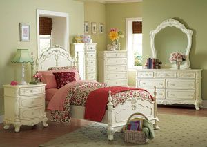 Cinderella White Twin Poster Bed, /category/bedrooms/cinderella-white-twin-poster-bed.html
