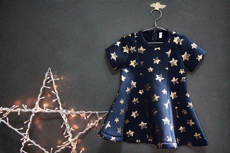 MARON STAR DRESS #CandyRainbow #stars #dresses #childrenclothingonline #kids