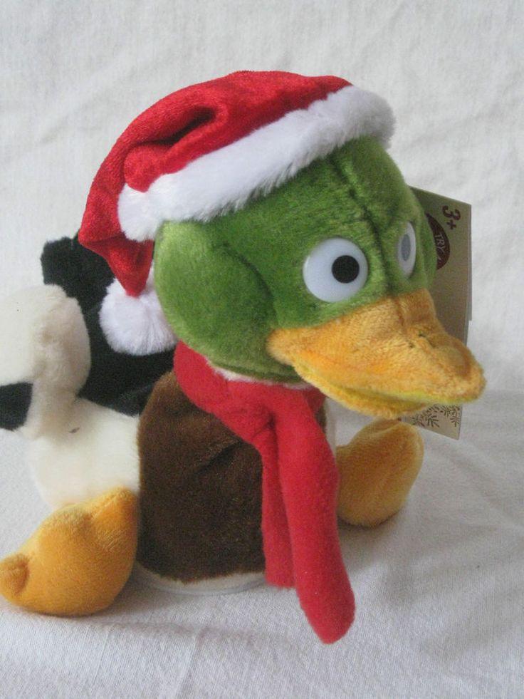 Christmas Duck Gemmy 7  Sings Free As A Bird Skynyrd Head Beak Move Carolling