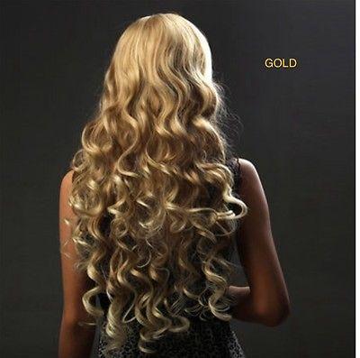 Fashion Kanekalon Side Swept Bangs Long Wave Hair Wig