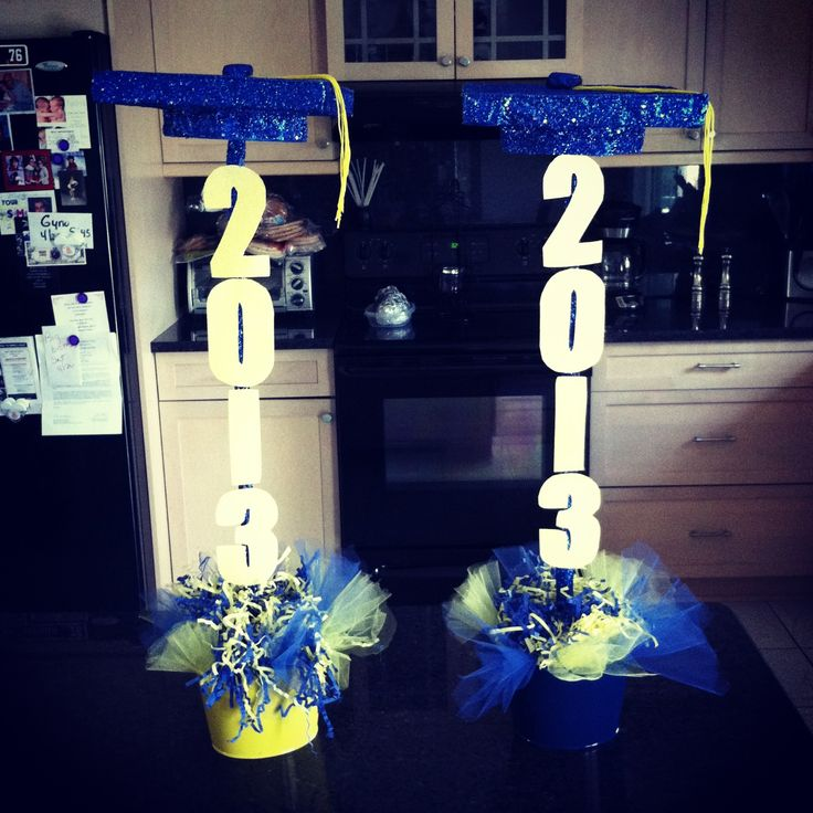 Graduation Centerpieces Made By Linda And Ashley