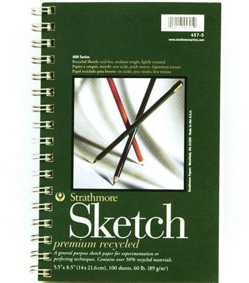***DION DIOR SAYS THESE TAKE WATERCOLOR WELL*** - Sm Recycled Sketch Pad 5''X8'' I would like two of these