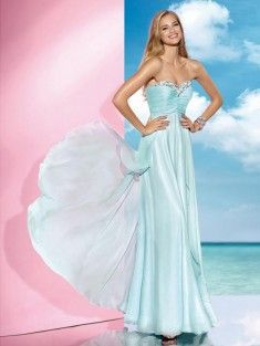 A-Line/Princess Sweetheart Sleeveless Pleats Floor-Length Chiffon Prom Dress