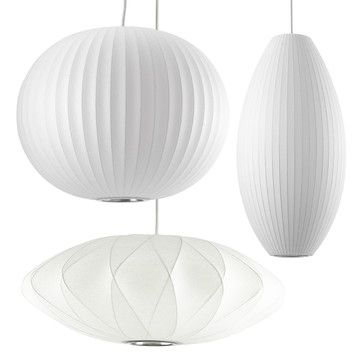 Modernica George Nelson's Bubble Lamps Ella's bedroom light - rounder one