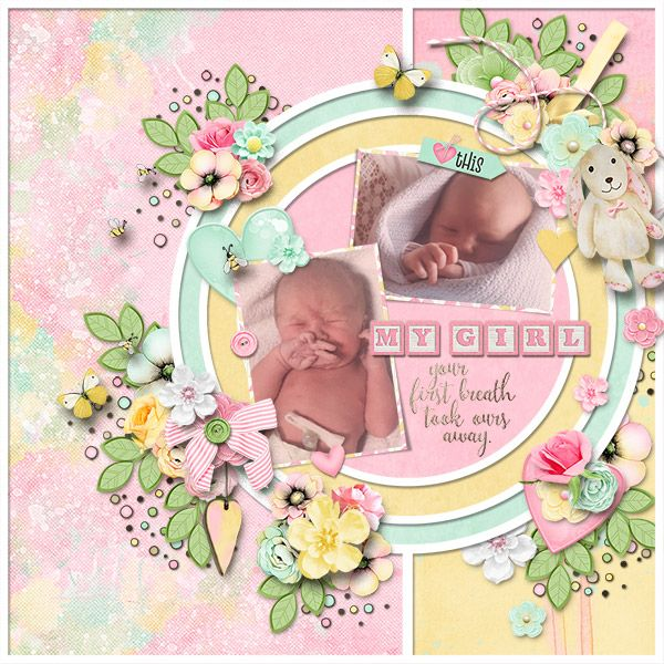 The Bigger Picture #10 Templates: Heartstrings Scrap Art Eggs-tra Special : Heartstrings Scrap Art To the Moon  : Fayette Designs  Sweet Happiness : DitaB Designs  Boho Blooms  : Jumpstart Designs