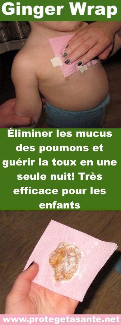 Comment traiter la toux et éliminer le mucus des poumons en une seule nuit : excellent pour les enfants !