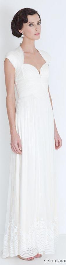 Catherine Deane wedding dresses 2012 - Elana cap sleeve gown