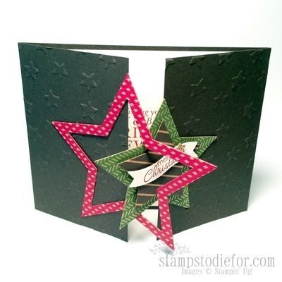 Stampin' Up! Bright and Beautiful Dies - Gate Card - Video and Tutorial how to make a gate fold card on my blog www.stampstodiefo...