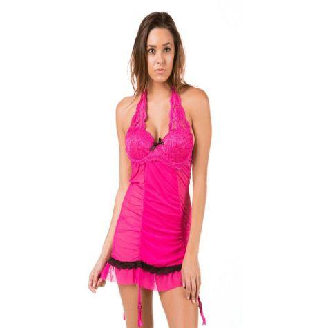 Women's Hot Pink Babydoll Lingerie