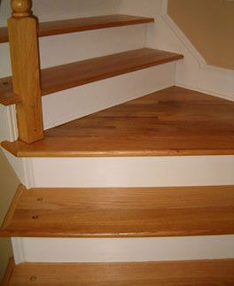 Layout Of Hardwood On Staircase With Landing Flooring Stair Solution