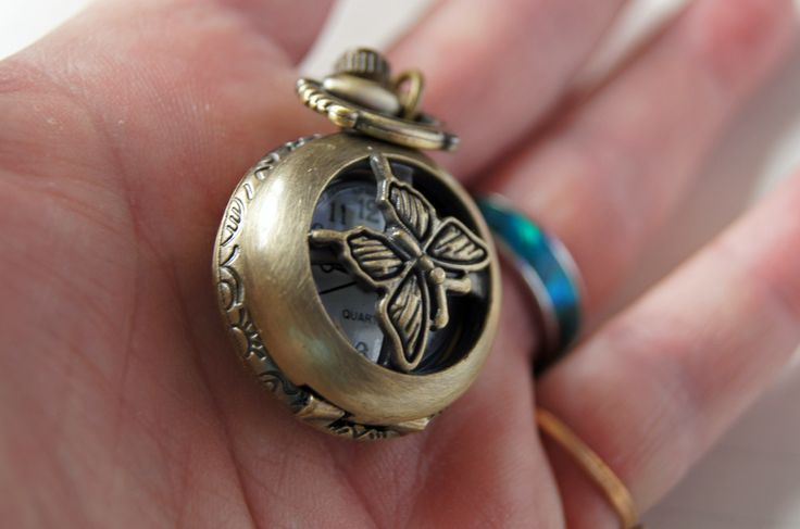 Ladies Butterfly Victorian Vintage Fob Watch.https://www.etsy.com/listing/186341369/vintage-antique-butterfly-brass-fob?ref=shop_home_active_1