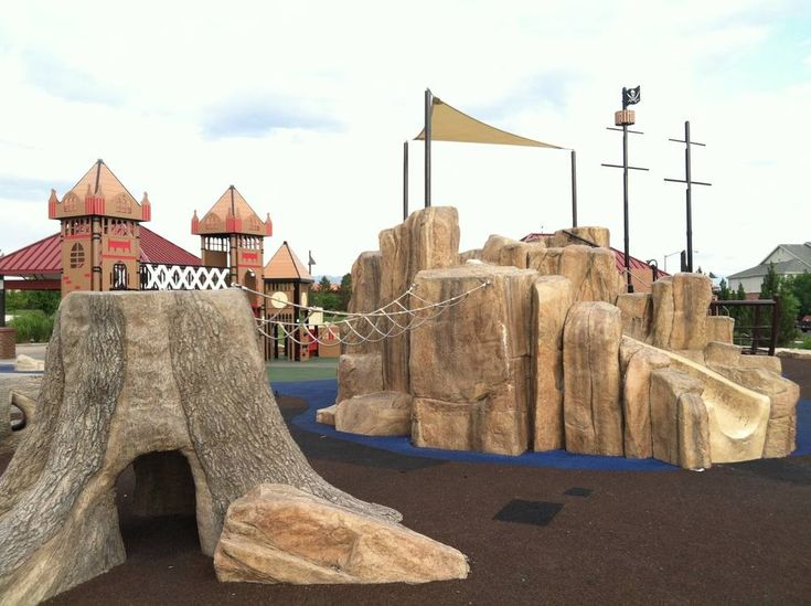 Imaginations will soar for pirates, Lost Boys, and Tinkerbells at Peter Pan Playground in Colorado, featuring great equipment and covered picnic areas.