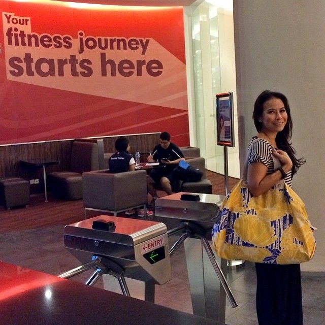 Love @Tulisan Cruise bag - just a prefect Gym bag for me. Proud to Wear this Indonesia brand  #reestyle #reefablife #reeaddictions #rees...