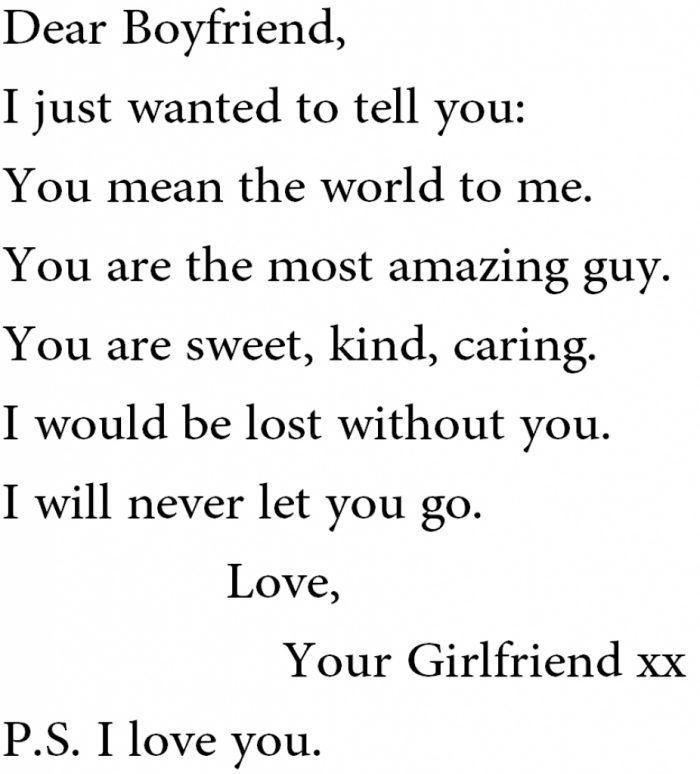 cute love quote letter to your boyfriend Cute boyfriend