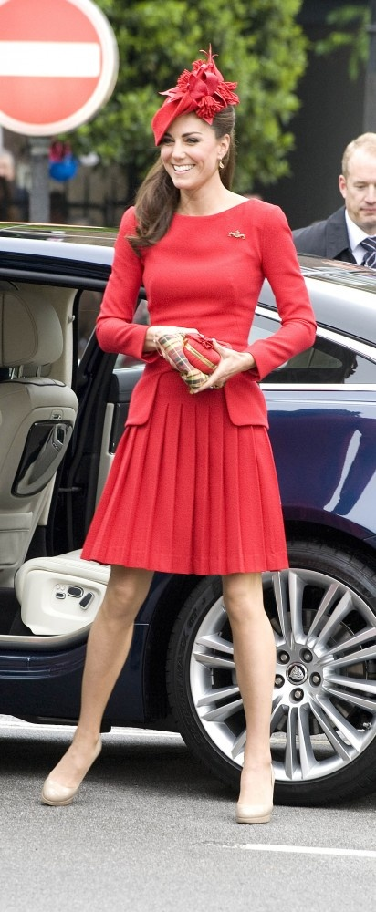 Kate Middleton In Red Alexander McQueen at Jubilee