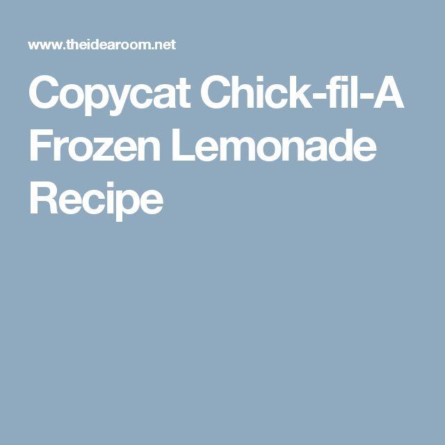 Copycat Chick-fil-A Frozen Lemonade Recipe