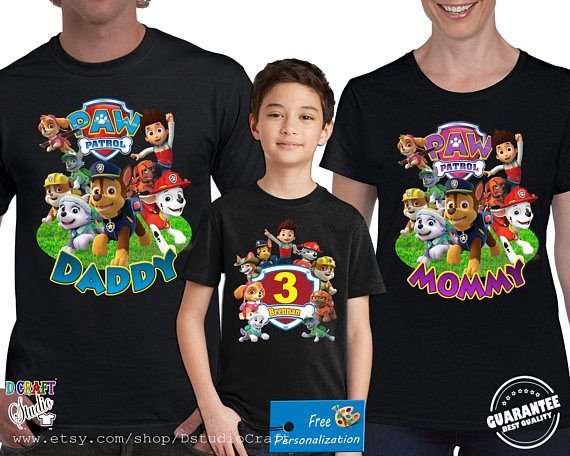 Paw Patrol Birthday Shirt Custom