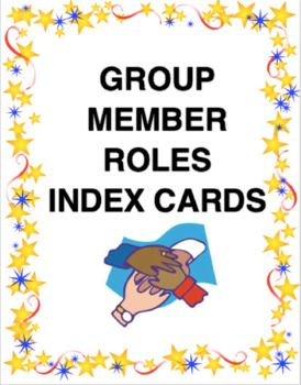 These group member role cards are excellent for group work. As students are working in groups, they are all presented with a card as well as what their role is in the group. The three group member roles are the following: Motivator: Ensures all group members are on task