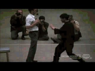 """Six Inch Punch (gif)""""I fear not the man who has practiced ten thousand kicks once. But I fear the man who has practiced one kick ten thousand times."""" -Bruce Lee"""