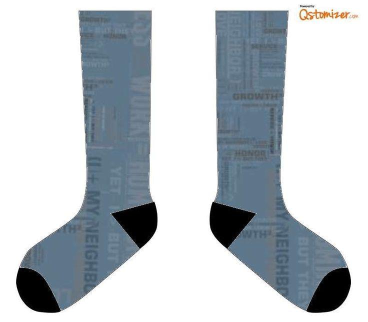 "11"" Custom Socks with Black Ends"