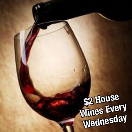 Sioux City Steakhouse now offers $2 house wine every Wednesday!