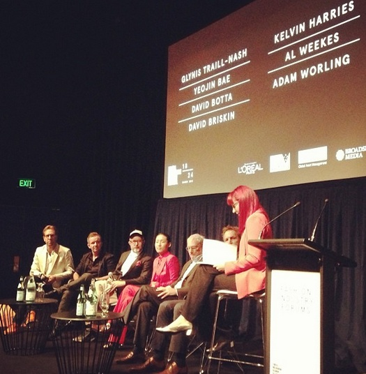 The panel gets underway @davidbriskin #DavidBotta @adamworlong #alweekes #KelvinHarries #DavidBotta @yeojinbae with host @glynistn #lmffbiz